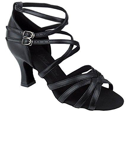 Veldig Fine Ballroom Latin Tango Salsa Dans Sko For Kvinner C5008 2,5 Tommers Hæl + Sammenleggbar Børste Bundle