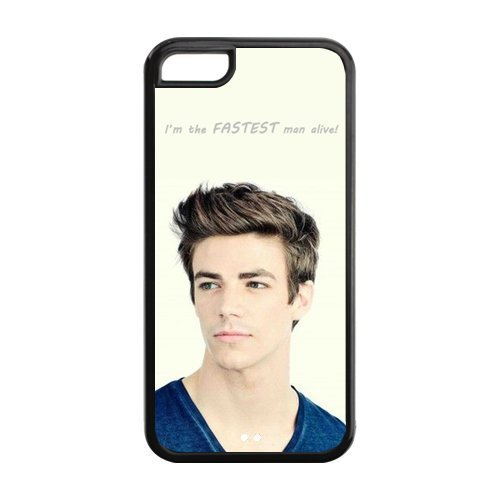 the Case Shop- Customized the Flash TV Show Grant Gustin Actor TPU Rubber Case Cover Skin for iPhone 5C , i5cxq-704
