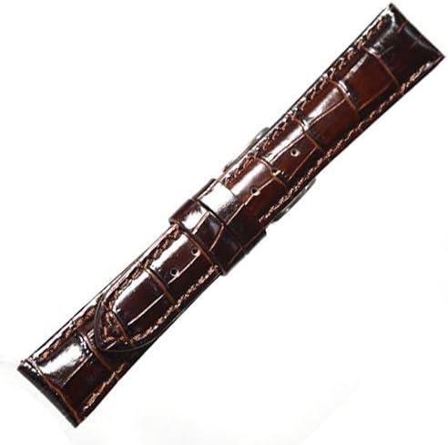 【牛革型押し-厚手・光沢あり】YK312a20 / 色:黒/ベルト幅:20mm / 尾錠幅:16mm (黒)