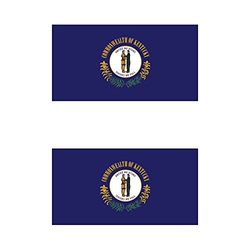 Two Pack Kentucky Flag Sticker FA Graphix Decal Self Adhesive Vinyl state commonwealth bluegrass