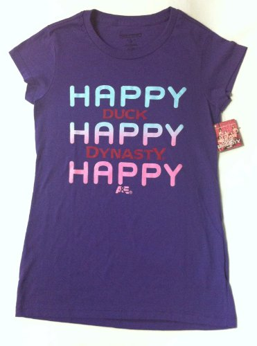 Duck Dynasty Women's Purple T-Shirt - Size XL - Happy Happy Happy