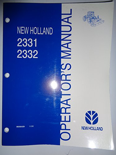 New Holland 2331 2332 Discbine Disc Mower Header Operators Manual 11/00