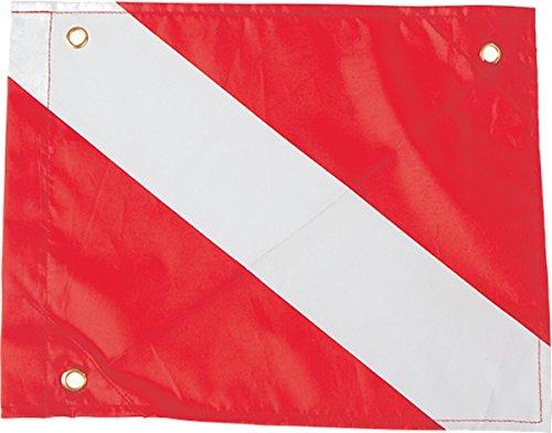 Nylon Dive Flag Scuba Max 12 by 15 Inches W/ Stiffener