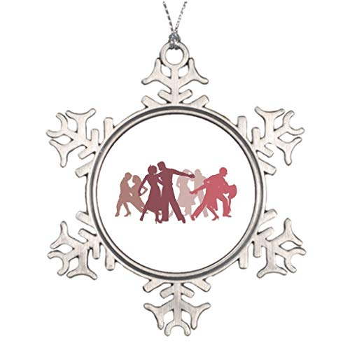 Cheyan Latin Dance Tree Decorating Bachata Wedding Christmas Snowflake Ornament