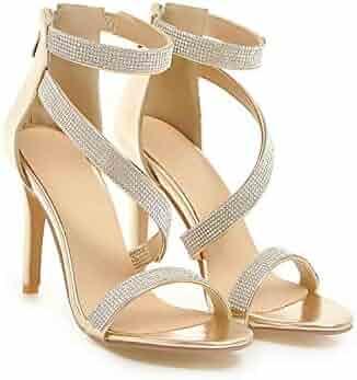 4169560e7 Luxury Crystal Heel Sandals Brand Design Sexy Bling Rhinestone High Heel  Women Sandals