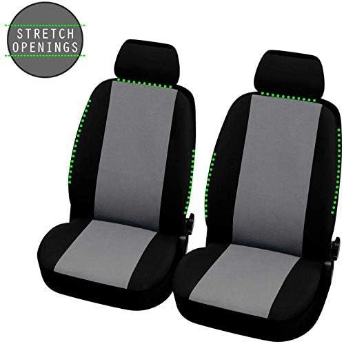 compatibili con sedili con airbag 2008 - in Poi Coprisedili Anteriori Neri Grigi KANGOO Versione con Fori per i poggiatesta e bracciolo Laterale
