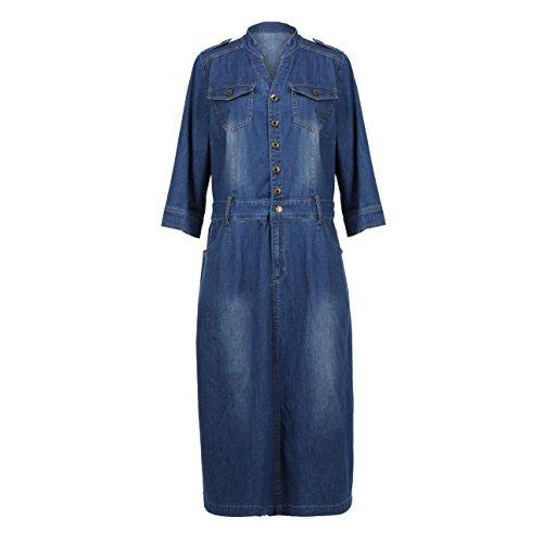 jean button down dress - 3