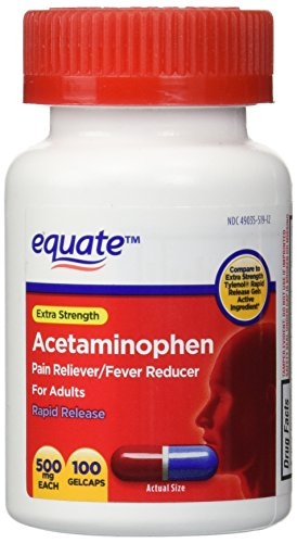 Equate - Acetaminophen 500 mg, Pain Reliever, Rapid Release