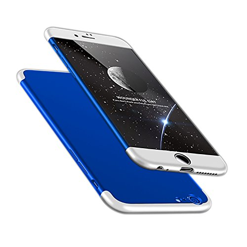 A Trading iPhone 6 Plus case, Ultra-Thin PC Hard Case Cover for iPhone 6 Plus (Silver+Blue+Silver)