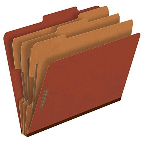 Esselte Fastener Folder - Pendaflex Pressboard Classification File Folders, 3 Dividers, 2