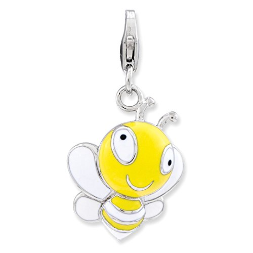 Baby Charms Bee (ICE CARATS 925 Sterling Silver Enameled 3 D Bumble Bee Lobster Clasp Pendant Charm Necklace Baby Fine Jewelry Ideal Gifts For Women Gift Set From Heart)