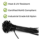 """100 Pack of Black Cable Ties - 8"""" x"""
