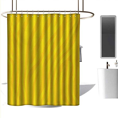 coolteey Shower Curtains for Bathroom Beach Theme Zebra Print,Zebra Skin Wild Animal Print Pattern with Vivid Colors Artwork Print,Yellow and Mustard,W48 x L84,Shower Curtain for Small Shower stall (Print Zebra Footstool)