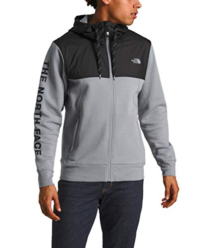 (The North Face Men's Train N Logo Overlay Jacket, Mid Grey, Size XL)