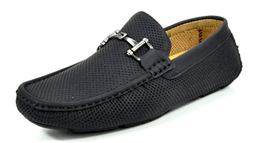 Bruno Marc Mens Ralph-01 Driving Loafers Moccasins Shoes Black