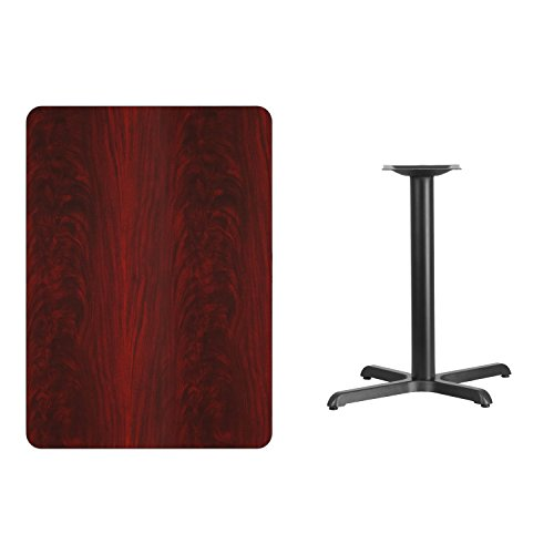 (30'' x 42'' Rectangular Mahogany Laminate Table Top with 22'' x 30'' Table Height Base)