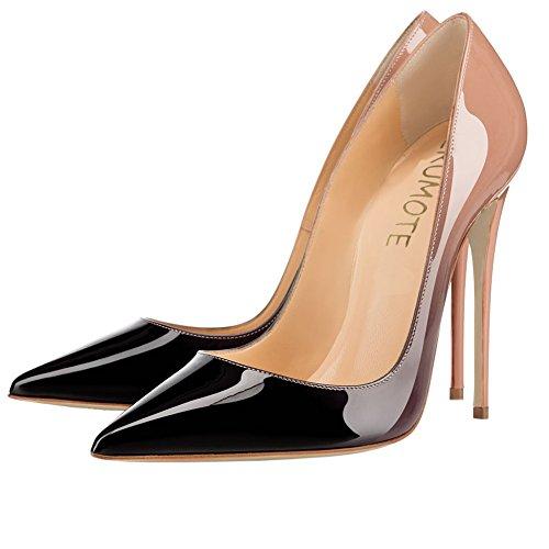Talons Toe Party pour couleur Black Chaussures femmes pour de Daily Mesdames hauts Pompes Pointu Nude MERUMOTE Sexy dégradé rSxCnrv6O
