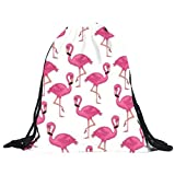 Drawstring Backpack Unisex Cute Sack Pack Casual Daypack Lightweight Hiking Sport Gym Bags,Gift (White, 15.4''X11.8'')
