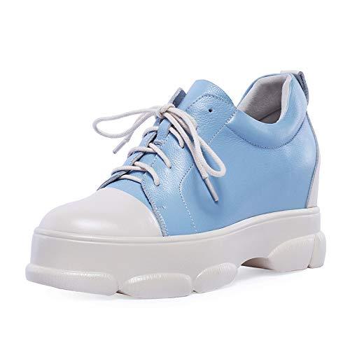 Sky bleu HommesGLTX Talon Aiguille Talons Hauts Hauts Sandales 2019 Femmes Pompes Bout Rond en Cuir Véritable Chaussures à Lacets Confortable Plate-Forme Chaussures Mode Chaussures De Sport  vente discount en ligne