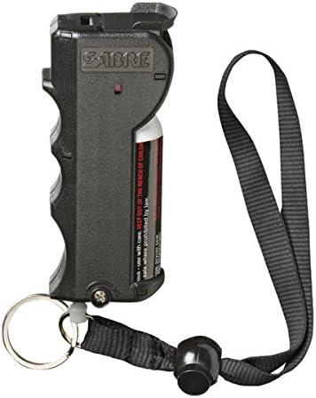 SABRE RED Pepper Spray – Police Strength – with Stop Strap, Key Case, Finger Grip, 20 Bursts 10-Foot 3M Range