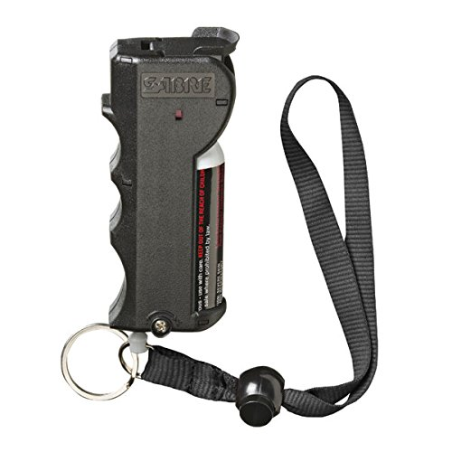 (SABRE RED Pepper Spray - Police Strength - with Stop Strap, Key Case, Finger Grip, 20 Bursts & 10-Foot (3M) Range)