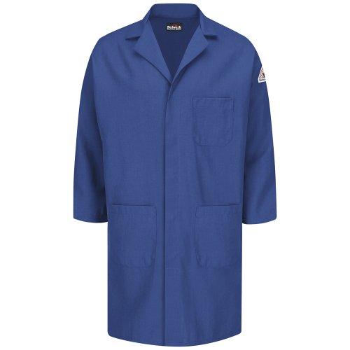 Bulwark FR Concealed Snap FrontLab Coat - Nomex® IIIA - 6 oz Royal Blue ()
