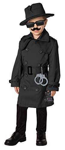[Time AD Inc. 211587 Spy Child Costume Kit - Black - Fits Sizes 4 to 8] (Secret Agent Halloween Costume For Kids)