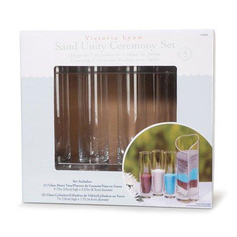 Bulk Buy: Darice DIY Crafts Victoria Lynn Sand Unity Ceremony Set Glass 4 pieces (2-Pack) VL5868 by Darice
