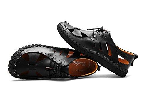 Deportivas Playa Zapatos Deportivo Sandalias De LXXAMens De Calzado Trekking Casual Real Black Verano Cuero Urbano pwOqPdf