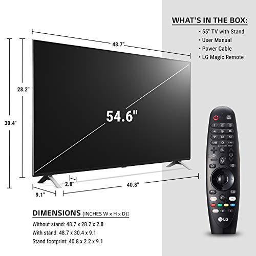"LG 55NANO85UNA Alexa Built-In NanoCell 85 Series 55"" 4K Smart UHD NanoCell TV (2020)"