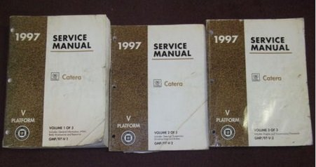 1997 Cadillac Catera Service Shop Repair Workshop Manual SET OEM FACTORY BOOKS