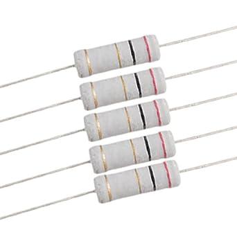 30 x 3 vatios 2 Ohm 5/% Electr/ónico Axial Lead Metal Oxide Resistencia de la pel/ícula