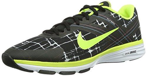 Nike Womens Dual Fusion TR 2 Print Black/Volt/Metallic Black/Wht Training Shoe 9 Women US