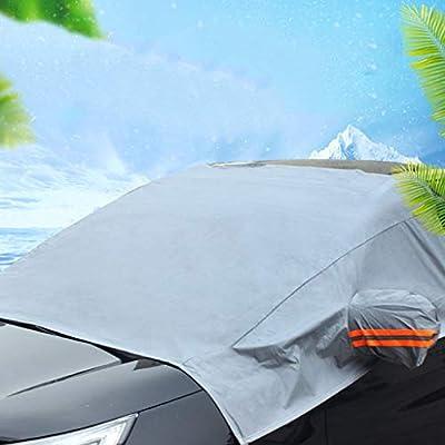 Cubierta del Parabrisas del Coche, Láminas de protección contra el Hielo y Nieve Helada Cubierta de limpiaparabrisas Protector Solar a Prueba de Polvo para ...
