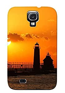 New Shockproof Protection Case Cover For Galaxy S4/ Grand Haven Lighthouse Case Cover