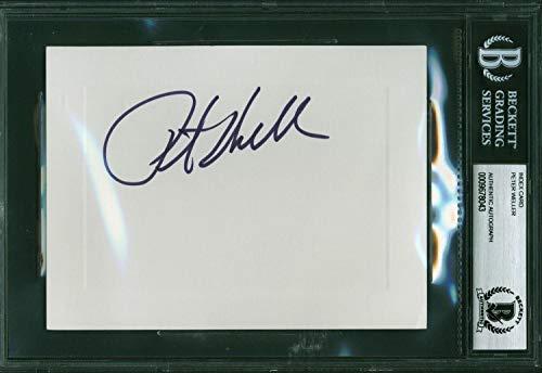(Peter Weller Signed 4x6 Index Card Beckett BAS Slabbed 9678043 RoboCop Star Trek - Beckett Authentication)