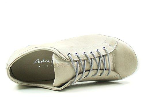 Mujer Beige de Cuero Conti 0340559 para Zapatos Andrea v6wOfqYq