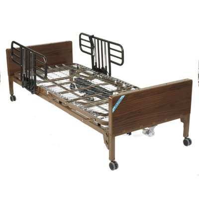 Drive Medical Full Electric Ultra Light Plus Hospital Bed, Brown, 36
