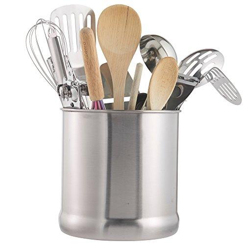 vonshef stainless steel utensil holder large capacity. Black Bedroom Furniture Sets. Home Design Ideas