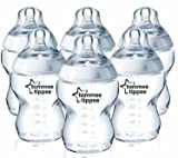 Tommee Tippee Closer to Nature 260ml Easivent Bpa-free Feeding Bottles Pack of 6 Good Gift for Mom and Baby Fast Shipping Ship Worldwide