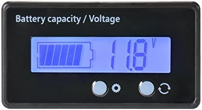 XCSOURCE Waterproof 12//24//36//48V LCD Lead-acid Battery and Lithium Battery Capacity Tester Voltage Meter Monitor Blue Backlight for Vehicle Battery BI728