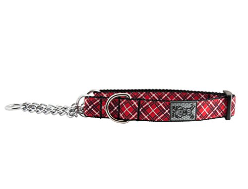 Image of RC Pet Products Training Martingale Dog Collar, Medium, Red Tartan