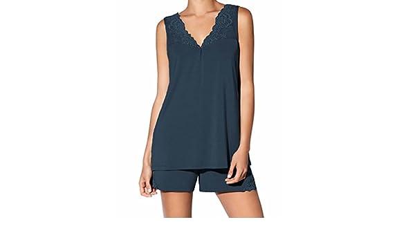 JANIRA pijama de mujer sin mangas con puntilla Jolie - INDIGO, M: Amazon.es: Ropa y accesorios