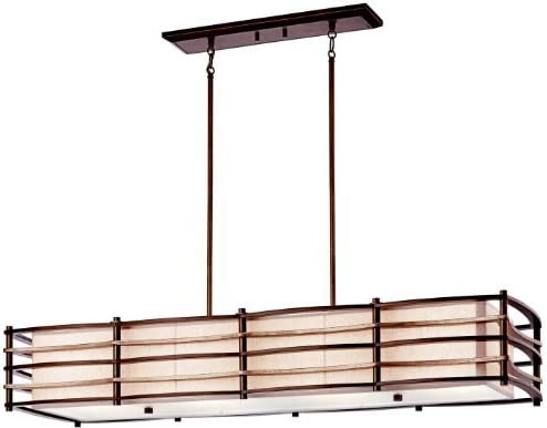 Kichler 42099CMZ, Moxie Large Glass 1 Tier Chandelier Lighting, 4 Light, 400 Watts, Cambridge Bronze
