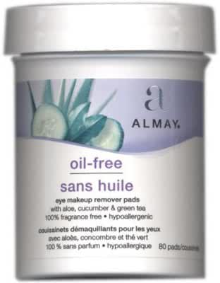 Almay Oil-Free Eye Makeup Remover Pads (2 Packs @ 80 Pads/pack, Total 160 Pads)