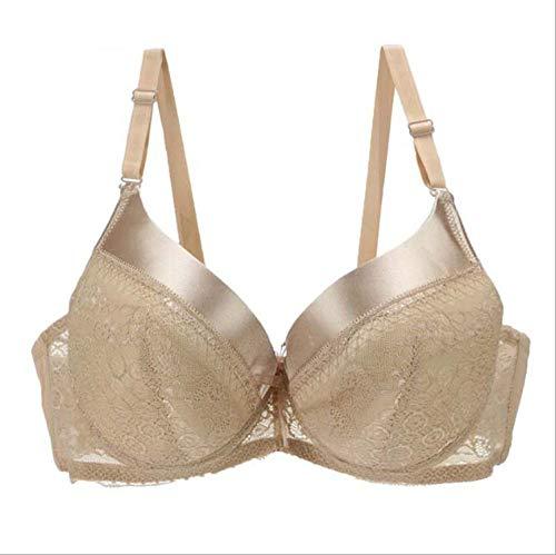 Women's Bras Sexy Intimate Underwear Plus Size 36-46 Bra Lace Push Up Big Cup C D E Lingerie -