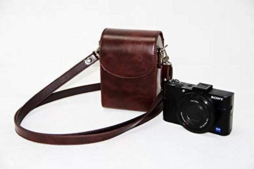 New Vintage PU Leather Camera Case for Sony HX30 HX50V HX60 HX90 RX100M2 RX100M3 M4 RX100 V WX500 Camera Bag Color : Coffee