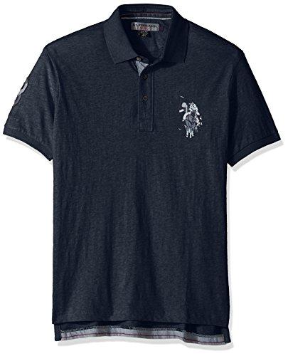 U.S. Polo Assn. Mens Slim Fit Solid Short Sleeve Jersey Shirt