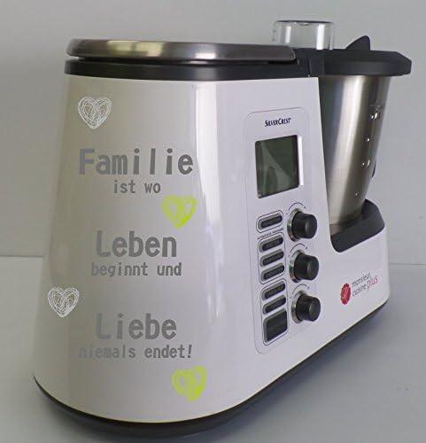wodtke-werbetechnik Grafix – Pegatina para Monsieur Cuisine Plus Familia Verde Corazones: Amazon.es: Hogar