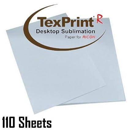 Texprint Dye Sublimation Paper for Ricoh Printers 8 5
